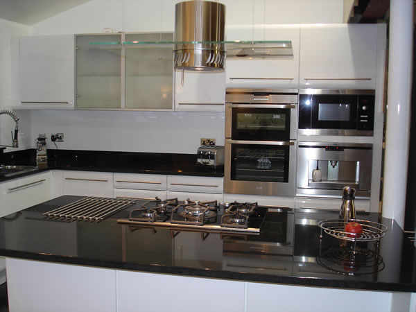 Polished Black Granite Kitchen Worktop